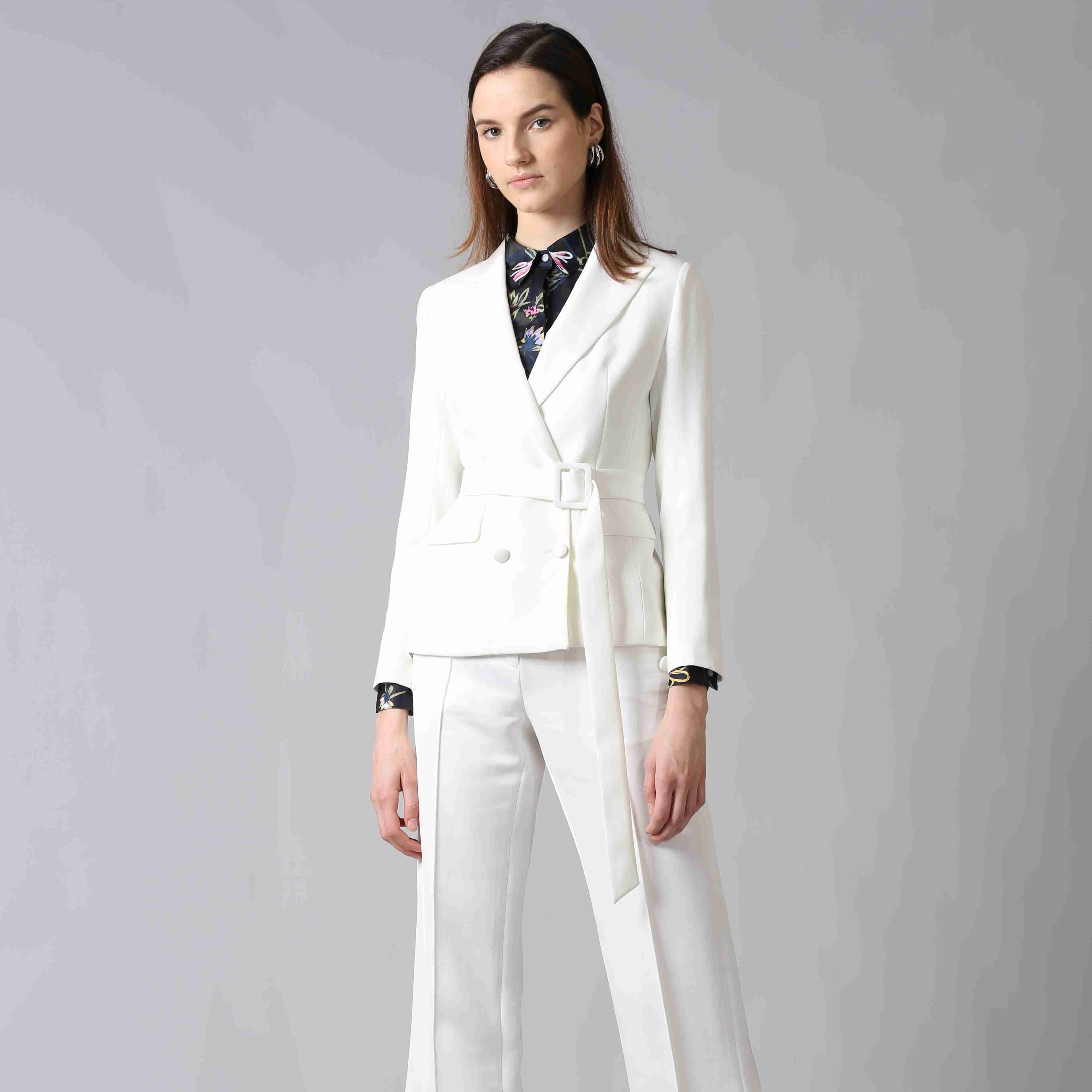 OEM Fashion female 2019 business suits for women famous brand suit Guangzhou manufacture