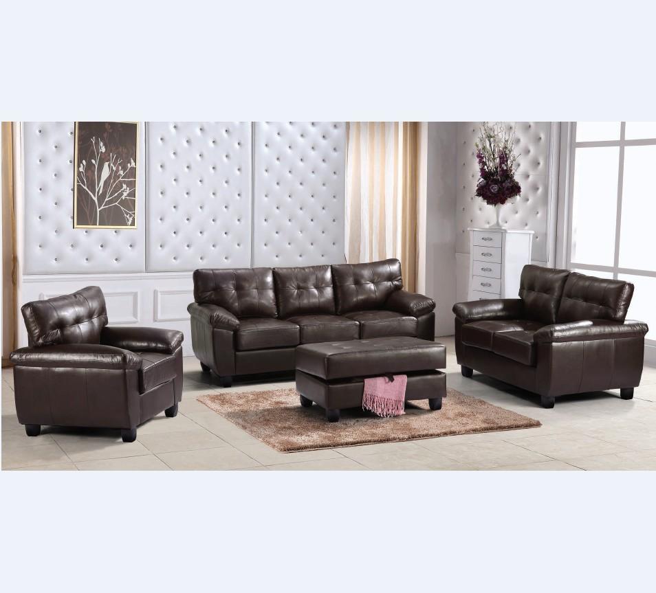 Bộ Sofa Da 1 + 2 + 3 Giá Rẻ Của Trung Quốc Phong Cách Mỹ