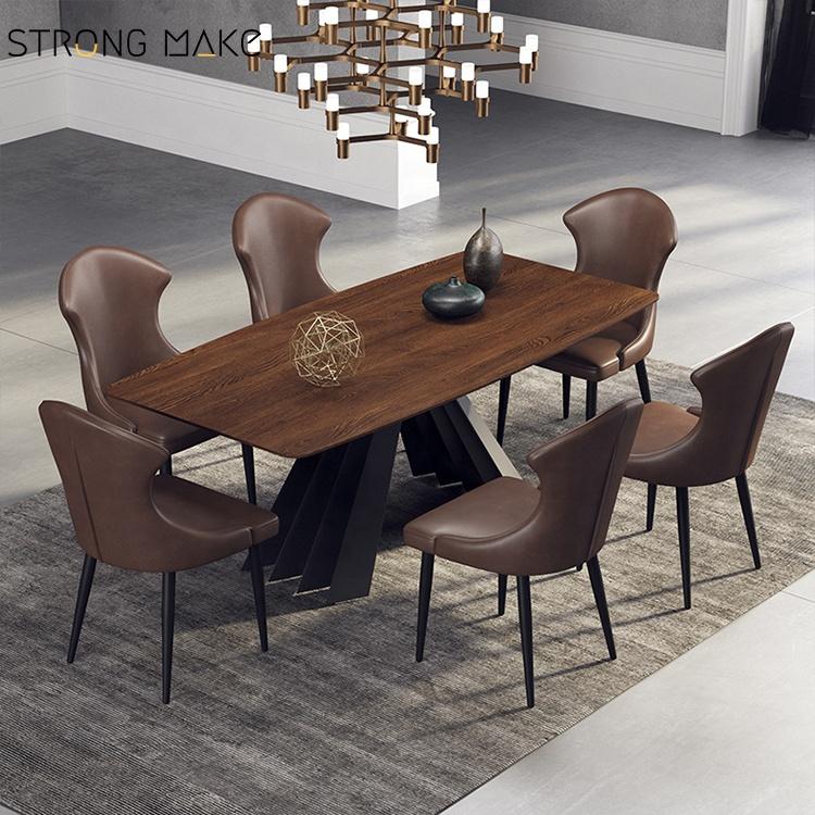 2020 Середина века новый современный Лидер продаж Мода Винтаж Черный кожаный обеденный стул
