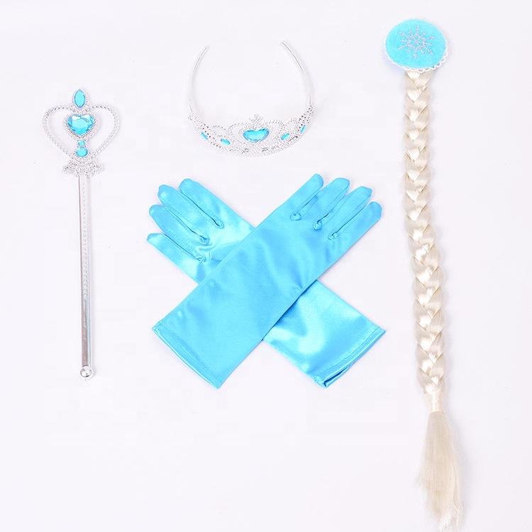 Congelato Elsa Festa di Compleanno Forniture Bacchetta Magica Con I Capelli Lunghi Congelato Elsa Cosplay Del Partito Set