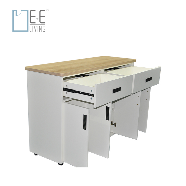 Rolling Kitchen Storage Trolley Cart Cabinet with Locking Wheels