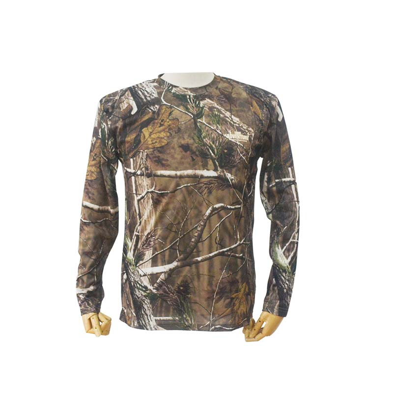 TRUEADVENTURE Quick Dry Long Sleeve Camouflage T-shirt Insect Repelling Performance Camo Hunting Shirts