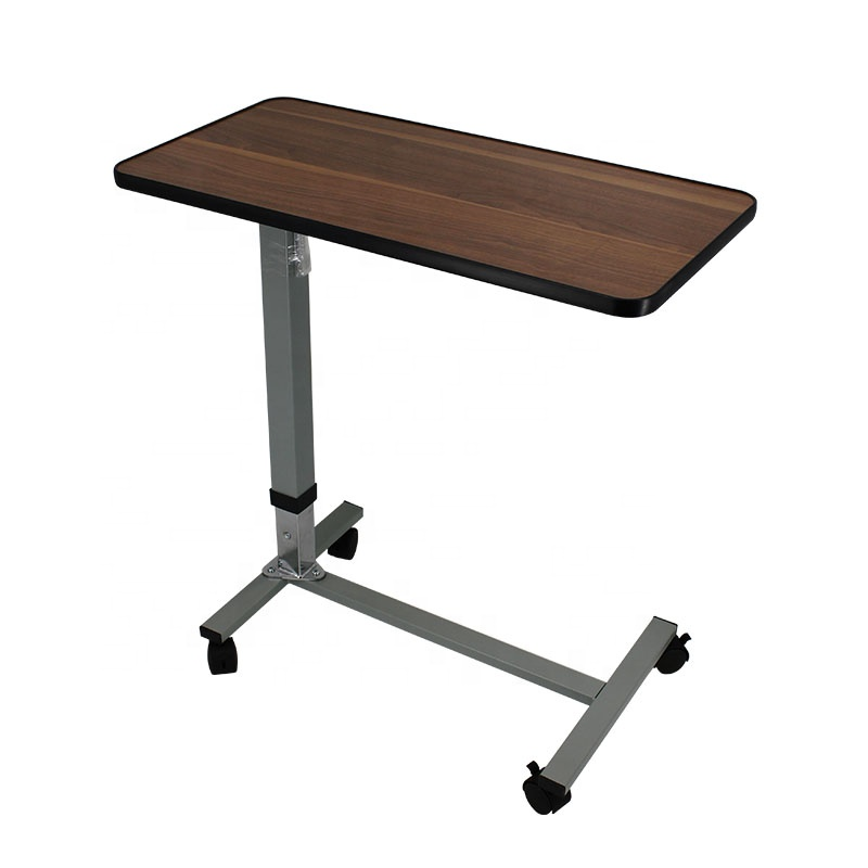 Medical Adjustable Overbed table Bedside dinning Table With Wheels MK06001