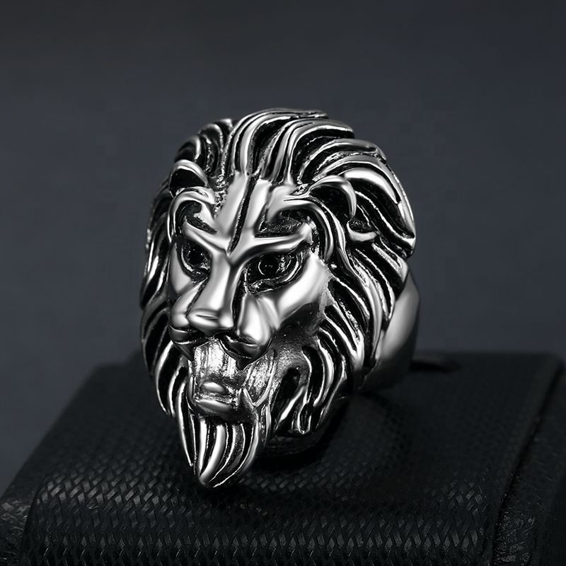 product-BEYALY-Cheap neat for unisex cool stainless steel lion gold ring-img