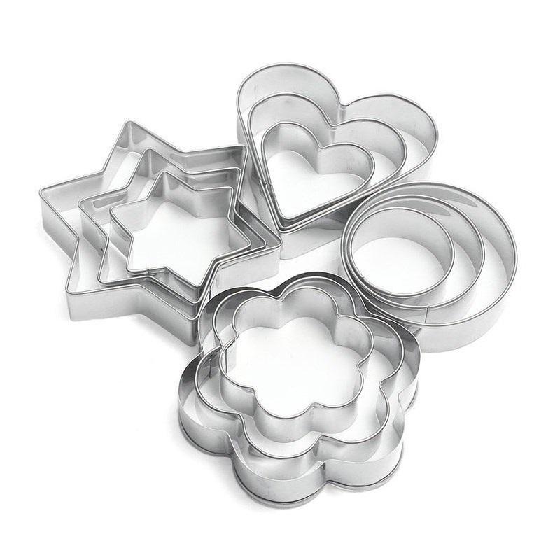 Baking Tools Round Flower Star Heart Shape Cookie Cutter Set