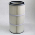 Filter Spunbonded Polyester Anti-static Pleated Industrial Dust Collector Air Filter Cartridge