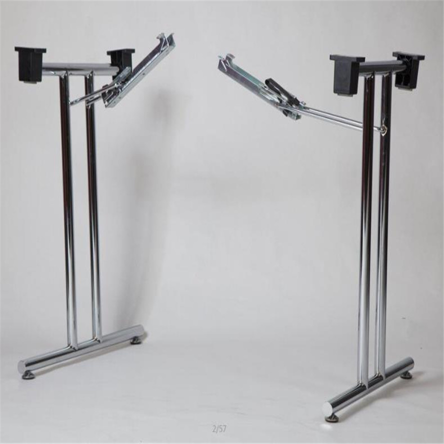 - Cheap Chrome Metal Folding Table Legs Used In Foldable Office Desk