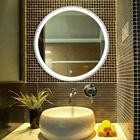 Wholesale Anti Fog Bathroom Mirror Custom Round Smart Mirror Touch Led Display