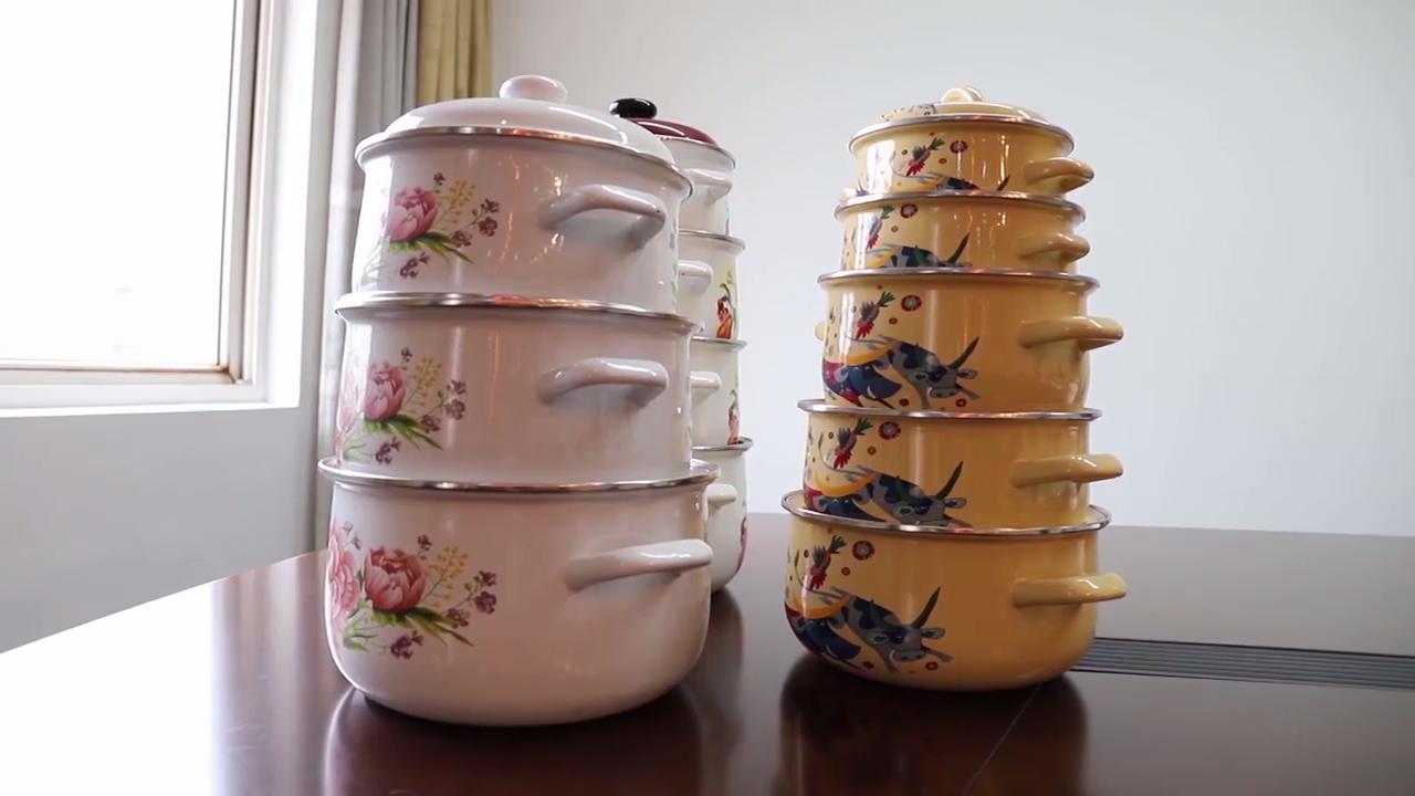 Anti-verbrüht keramik griff nicht-stick suppe und lager topf kasserolle