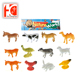 promotional vivid color bulk 3D figures farm mini plastic animal toy set