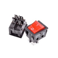 Rocker Switches KCD4 30A 250V ON/OFF T8555 4pin red light Power Switch Welder Switch