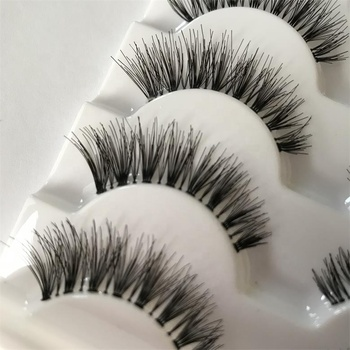 Customer Package Popular Selling Wispy Soft And Natural Synthetic False Eyelash