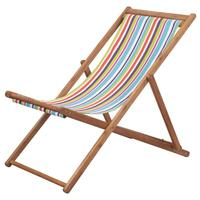 Custom Casual Home Adjustable Wooden Foldable Beach Sling Chair
