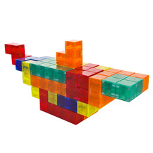 Tetris Magic Cube Multi-color 3D <span class=keywords><strong>Magnetische</strong></span> Bouwstenen Abs Plastic Materiaal <span class=keywords><strong>Diy</strong></span> Speelgoed Cadeau Voor Kid