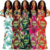 Wholesale Women's Casual Sexy Halter Floral Printed Ruffled  Bodycon Skinny Maxi Dress Club Dress