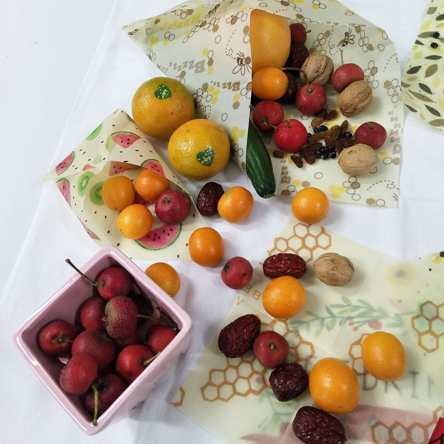 Organic Reusable Cling Food Wraps for Wrapping and Storage