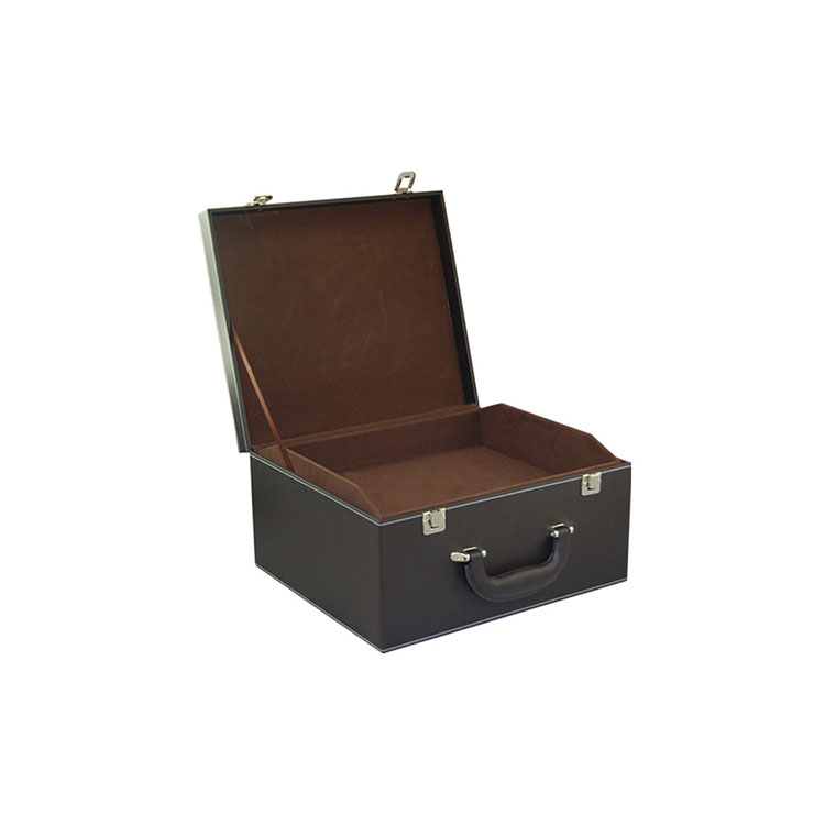 PU leather gift wine box for 6 bottle cardboard wine box with black box wine 500ml