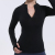 semi-zipper fitness  sports jacket long sleeve breathable tight yoga for women with custom design