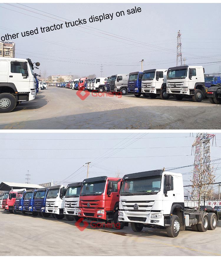 सस्ते उच्च गुणवत्ता इस्तेमाल किया ट्रैक्टर ट्रक सिर sinotruck howo अफ्रीका के लिए 371 375hp 420hp 6x4