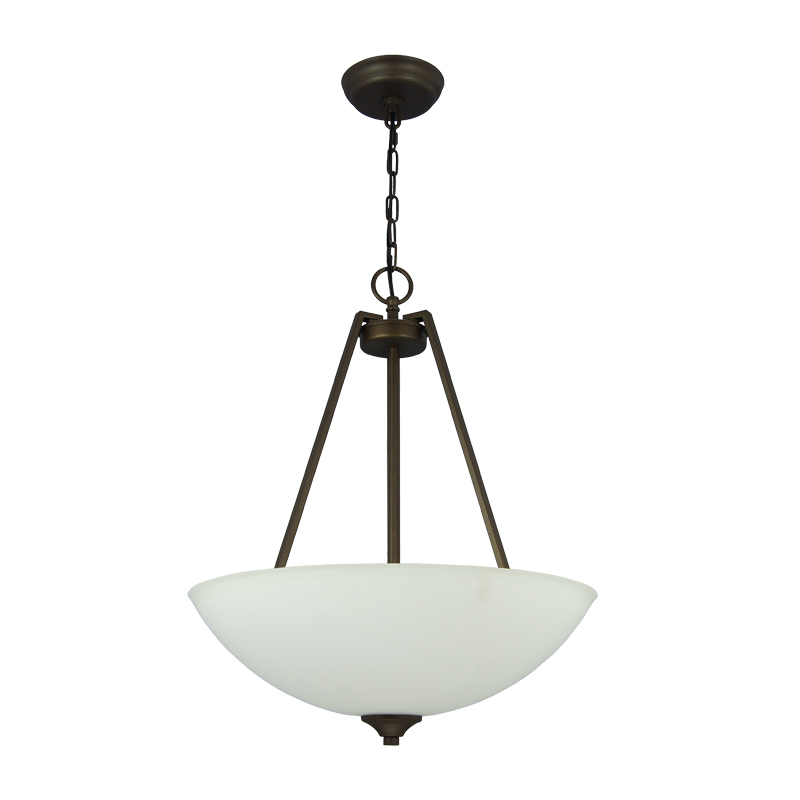Decorative Hanging Pendant Light Ceiling Bowl Glass Pendant Light Dark Bronze Chain Pendant Lighting