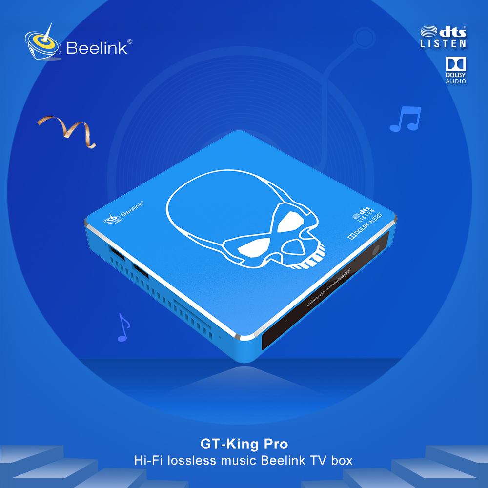 Hot HD 6K 4GB+64GB Amlogic S922X-H Android Smart tv box Beelink GT-King PRO Set Top Box with Fanless Metal Case 4*USB 3.0 port