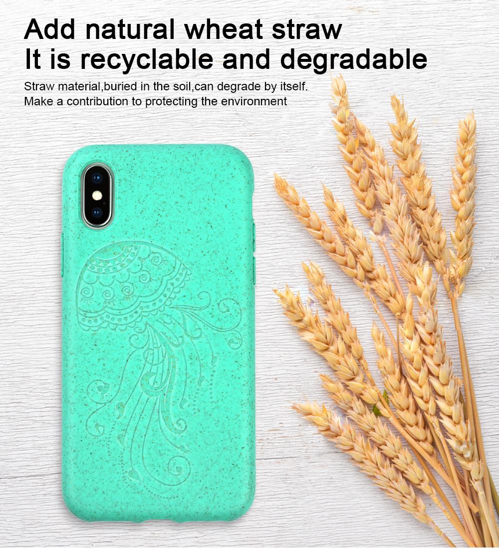 Iphone12 एसई X के लिए पर्यावरण के अनुकूल Biodegradable फोन के मामले में, पुनर्नवीनीकरण मोबाइल कवर के लिए Huawei P40, samsungS20 के लिए पर्यावरण फोन के मामले में मामलों