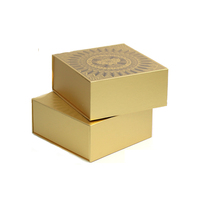 customized highend silver and gold foil card gift box