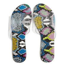 Женские сандалии на плоской подошве, со змеиным узором, Повседневная пляжная обувь, 21 мая(Китай)
