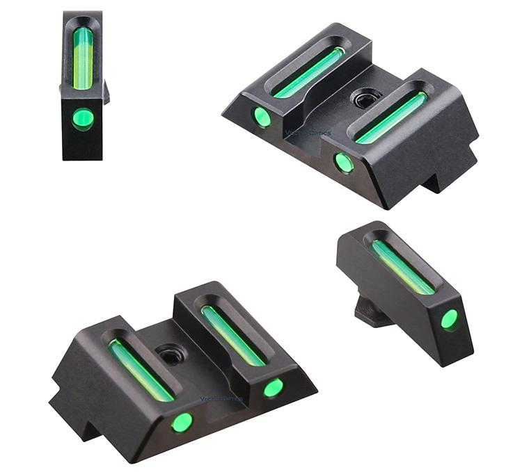 Vector Optics LA Sợi Điểm Tham Quan Combo 3 Dots Phong Cách Front & Rear Điểm Tham Quan Kết Hợp Phù Hợp Với Glock cho Khẩu Súng Lục Màu Xanh Lá Cây Màu Sắc sợi Sight