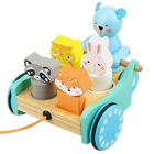 2020 new Multi-function Educational Shape Matching Blocks Wooden Toy Cars Pull Along Toy