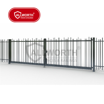 Waterproof Public Housing Authorities Triangular Iron Fence Gate
