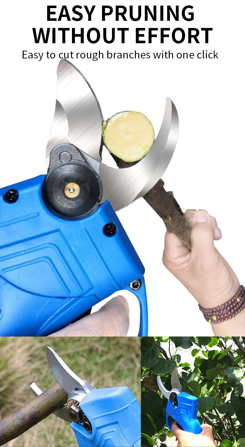 ODETOOLS Small electric Tree Prunner scissor for Garden Pruner Shears