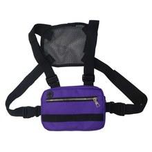 Поясная Сумка В Стиле Хип-хоп для мужчин и женщин, уличная поясная сумка, регулируемая тактическая нагрудная сумка, поясная сумка в уличном ...(Китай)