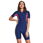 SBART High Quality One Piece Short Sleeves Lycra Swimsuit For Swimming