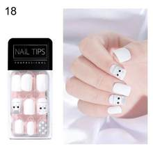 30 шт. советы для дизайна ногтей, накладные ногти в гробу, ультратонкие накладные ногти для дизайна ногтей, полное покрытие, искусственные но...(Китай)