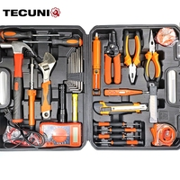 TECUNIQ 37pcs tool box Daily household tool kit set DIY&repair hand tool set special for electrician