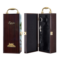 Low MOQ wood wine bottle gift box storage packing luxury