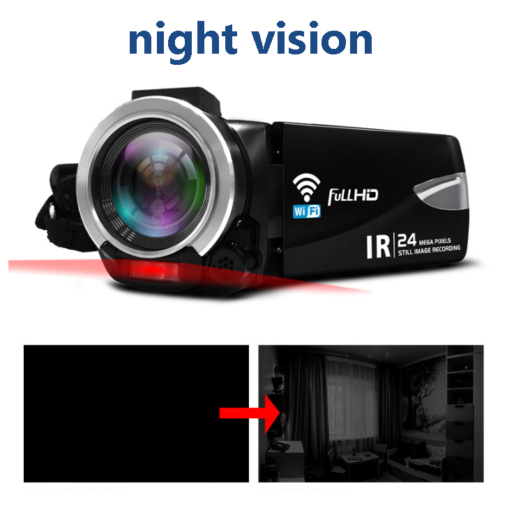 Hot selling 24MP HD 1080P F800 camcorder professional  remote control night vision wifi digital camera video camara vlog