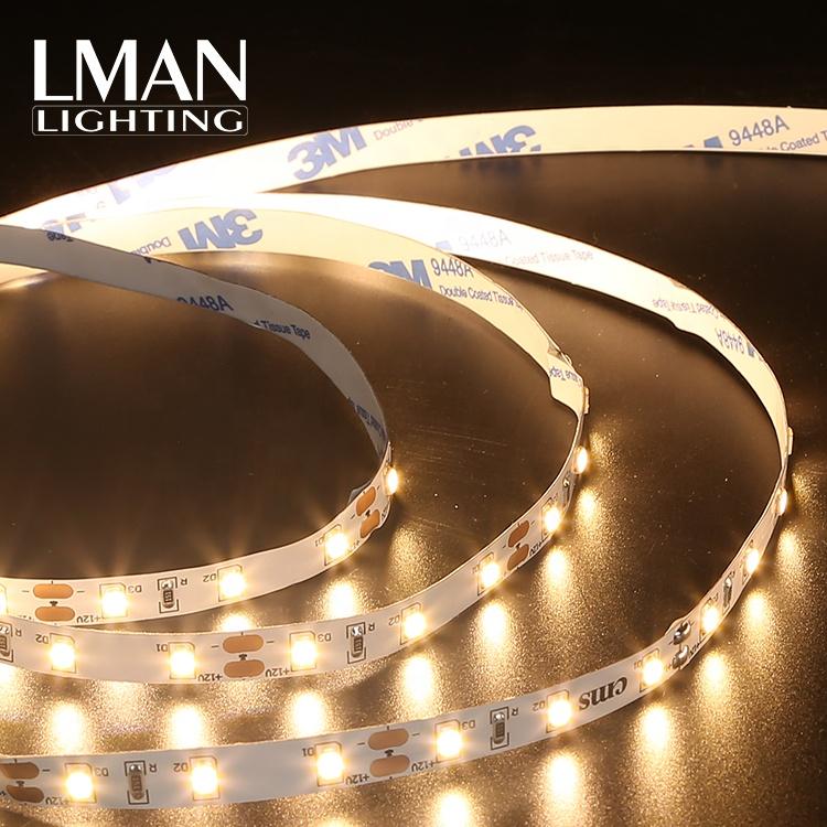 Factory price list 650LM/M IP20 12v 24v 4.8W SMD 2835 60leds/m led strip light