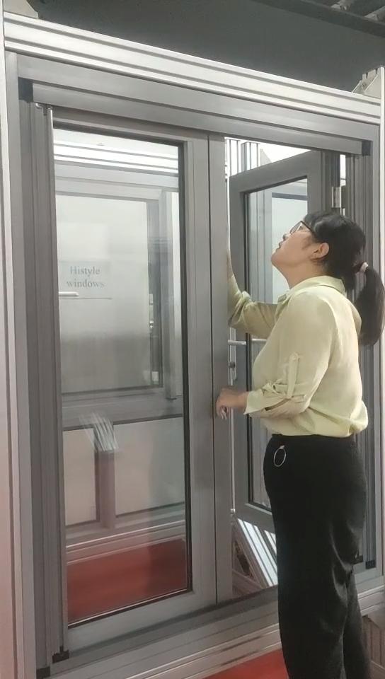 กระจกนิรภัยหน้าต่างอลูมิเนียมออกแบบประตูประตูและWindowsที่มีหน้าจอ