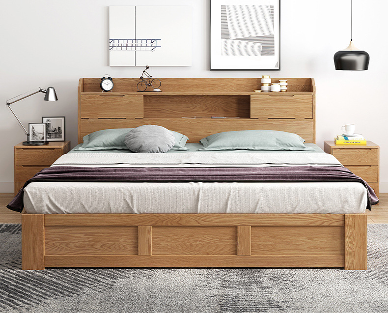 product-BoomDear Wood-room bed furniture multifunction high end low pricebig full size new design wo-1