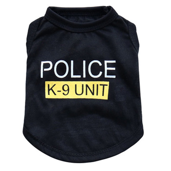 Dog Vest Police Costume Training Pants Clothing Accessories for Medium to Large Dogs Large Dog Vest