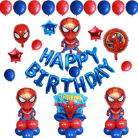 Spiderman Theme Helium Foil Balloons Latex ball Air Globos Hero Spider man Happy Birthday Party Decoration Set Toy Ballon