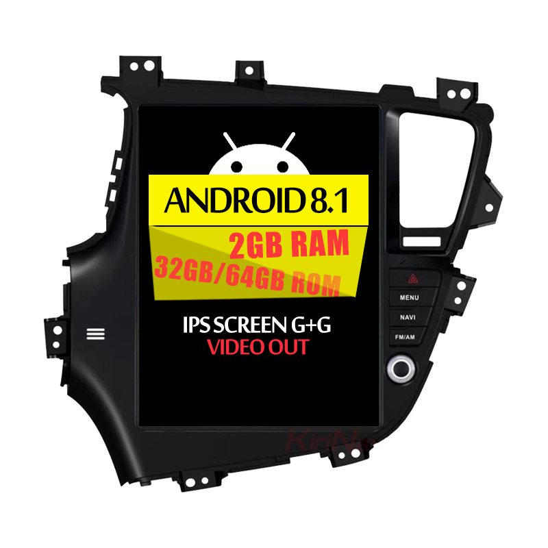 "KiriNavi Verticale Screen 12.1 ""Android 8.1car multimedia Voor KIA K5 optima 2011 + dvd gps navigatie radio tv bluetooth systeem"
