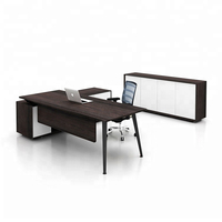 Luxury Wood Table Modular Office Furniture Modern CEO Executive Desk