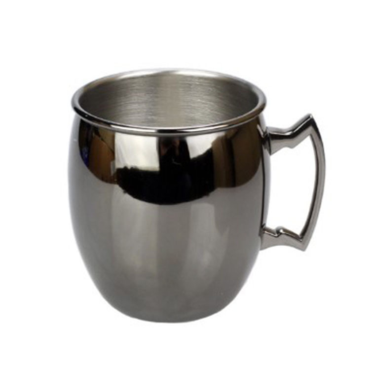 16OZ 18OZ Stainless Steel Coffee Beer Cups Matte Black Hammered Moscow Mule Drink Mug
