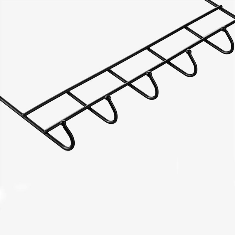 Livre de suspensão do metal coat rack com ganchos grandes