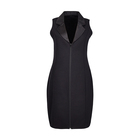 wholesale summer fashion sleeveless zipper black fitted women clothing dress