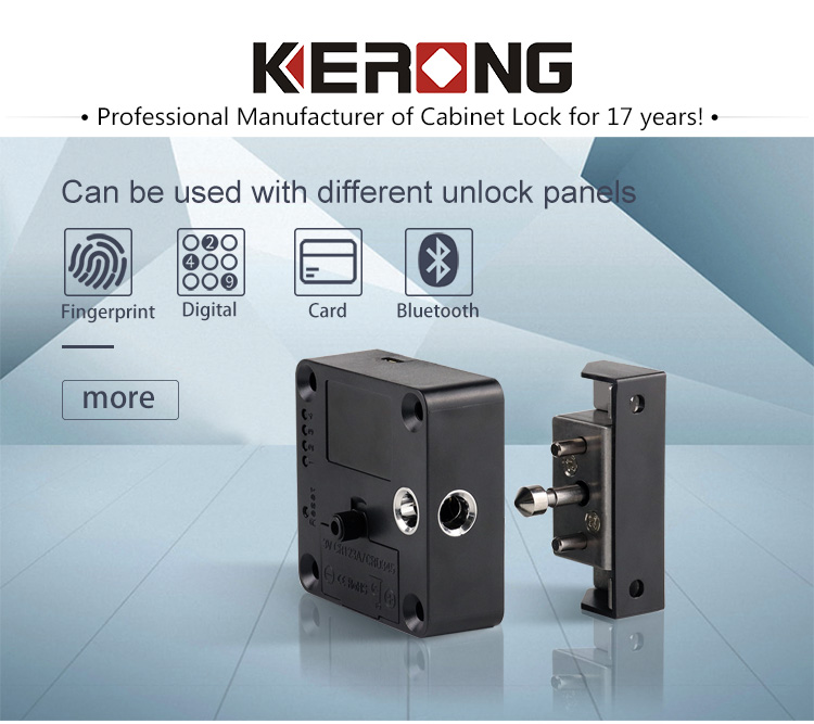 KERONG RFID Proximity Magnetic Smart Furniture Cupboard Cabinet Locker Lock with Card,Alarm for Gym Locker