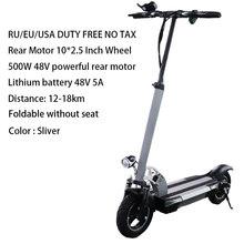 100 км Расстояние 48 в 500 Вт Электрический скутер 26ah батарея Patinete Electrico Adulto складной самокат электрический скейтборд велосипед(Китай)